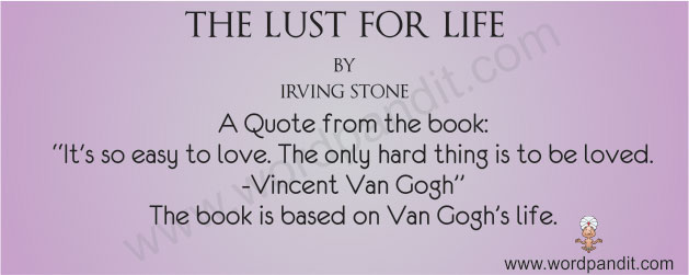 lust for life for irving stone