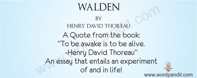 Walden By Henry David Thoreau  Wordpandit Book Review For Walden Classification Essay Thesis also Cause And Effect Essay Thesis  Essay On Business Communication