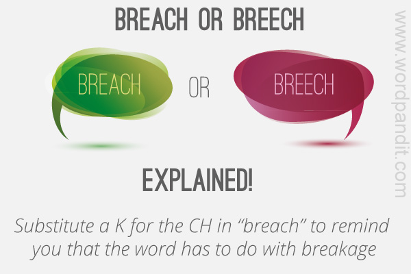 difference between breach and breech