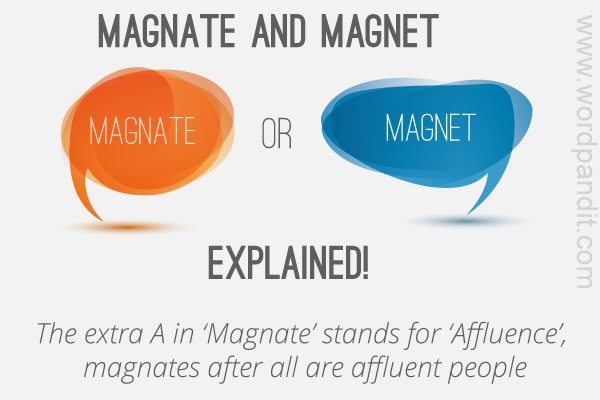 difference between magnate and magnet