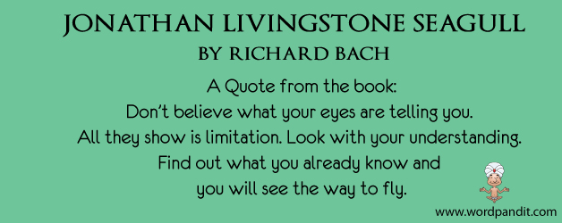 jonathan livingston seagull essay Jonathan livingston seagull by richard bach 21 pages 687 words 1557 views the story jonathan livingston seagull is telling us, the readers, to always push yourself.
