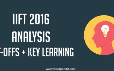 IIFT 2016 Analysis by Wordpandit