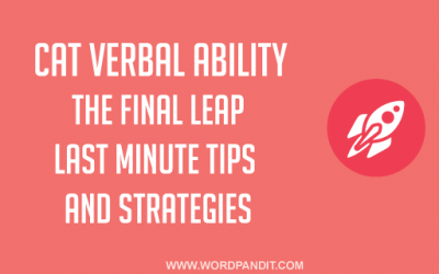 Strategy for CAT Verbal: The Final Leap