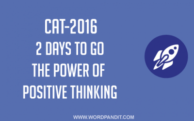 2 Days to CAT-2016: Believe in yourself