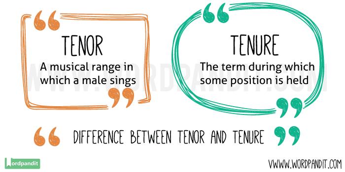 Tenor-vs-Tenure