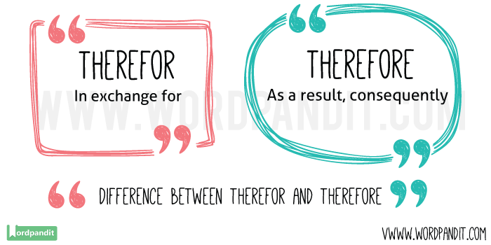 Therefor-vs-Therefore