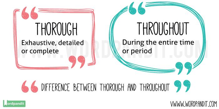 Thorough-vs-Throughout